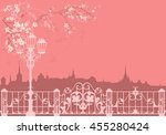 spring city background  ... | Shutterstock . vector #455280424
