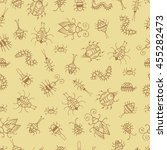 seamless pattern with cute... | Shutterstock .eps vector #455282473