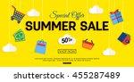 sale banner design. vector eps... | Shutterstock .eps vector #455287489