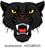 vector  black panther head | Shutterstock .eps vector #455288524