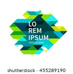 minimalistic design element.... | Shutterstock .eps vector #455289190