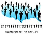 business people silhouette... | Shutterstock .eps vector #45529354
