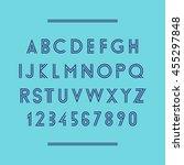 modern geometric font. vector... | Shutterstock .eps vector #455297848