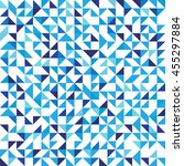 blue geometric background with... | Shutterstock .eps vector #455297884