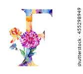 the english alphabet drawn... | Shutterstock . vector #455298949