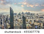Small photo of View of Abu Dhabi city, United Arab Emirates by sunset time