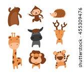 wildlife character design | Shutterstock .eps vector #455309476