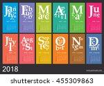 creative calendar 2018   jazzy... | Shutterstock .eps vector #455309863