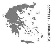 greece map grey | Shutterstock .eps vector #455311270