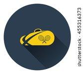 tennis bag icon. flat color...