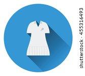 tennis woman uniform icon. flat ...