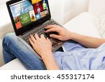 technology  internet  media ... | Shutterstock . vector #455317174