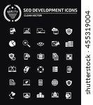seo development icon set vector | Shutterstock .eps vector #455319004