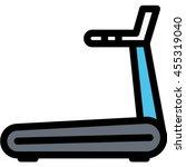treadmill outline icon | Shutterstock .eps vector #455319040
