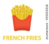 french fries vector... | Shutterstock .eps vector #455323318