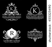 luxury logo set | Shutterstock .eps vector #455325490