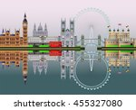london city skyline  abstract... | Shutterstock .eps vector #455327080