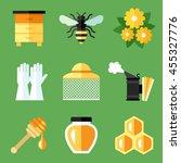vector set of beekeeping ...   Shutterstock .eps vector #455327776