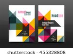colorful geometry design annual ...   Shutterstock .eps vector #455328808