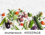 food background. assortment of...
