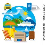 sea travel concept flat... | Shutterstock .eps vector #455331310