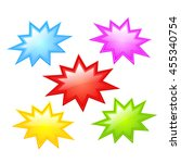 colorful star icon vector... | Shutterstock .eps vector #455340754