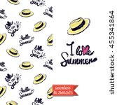 summer style double sided...   Shutterstock .eps vector #455341864