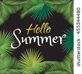 hello summer  calligraphy ... | Shutterstock .eps vector #455344480