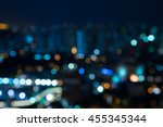 abstract urban night light... | Shutterstock . vector #455345344