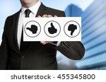 thumbs concept placard is held... | Shutterstock . vector #455345800