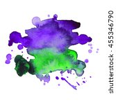expressive abstract watercolor... | Shutterstock .eps vector #455346790