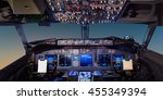 interior of the cockpit... | Shutterstock . vector #455349394
