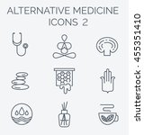 alternative medicine icons... | Shutterstock .eps vector #455351410
