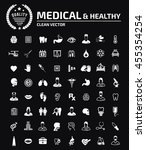 medical icon set  vector | Shutterstock .eps vector #455354254