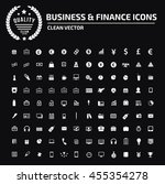 business and finance icon set... | Shutterstock .eps vector #455354278