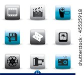 icon series 12   film and movie | Shutterstock .eps vector #45535918