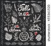 hand drawn vintage decoration... | Shutterstock .eps vector #455361520