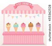illustration various ice cream...   Shutterstock .eps vector #455362528