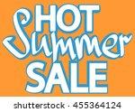 hot summer sale  isolated... | Shutterstock .eps vector #455364124