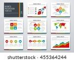 set of infographic elements.... | Shutterstock .eps vector #455364244
