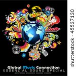global music event abstract... | Shutterstock .eps vector #45537130