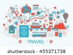 modern flat thin line design... | Shutterstock .eps vector #455371738