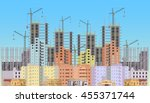 building city under... | Shutterstock .eps vector #455371744