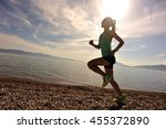 healthy young fitness woman... | Shutterstock . vector #455372890