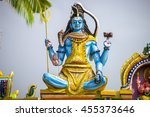 the image of lord shiva at the... | Shutterstock . vector #455373646