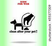 clean after pet web icon. black ...