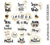 wedding decorative lettering... | Shutterstock .eps vector #455383384