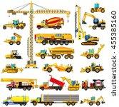 set of heavy construction...   Shutterstock .eps vector #455385160