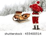 winter landscape of forest and... | Shutterstock . vector #455400514