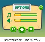 options screen  pop up game...